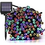 22M 200 LED Luci Natale Esterno Solare, Solare Impermeabile Illuminazione Fata Esterno Stringa di Luci, 8 Modalità, Luci Natalizie da Esterni(Colorate) [Classe di efficienza energetica A+++]