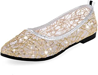 NRUTUP Summer Spring Women Ladies Girls Crystal Wedges Sandals Slippers Beach Shoes