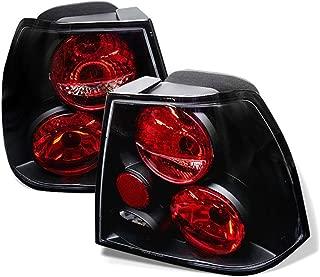 VIPMOTOZ Altezza Euro Style Tail Light Lamp For 1999-2005 Volkswagen Jetta Sedan - Black Housing, Driver and Passenger Side