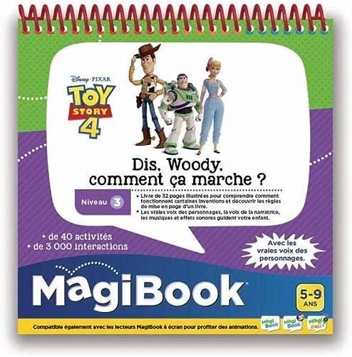 VTech - Livre MagiBook - Toy Story 4 - Dis Woody, comment ca marche ? Livre éducatif – Version FR