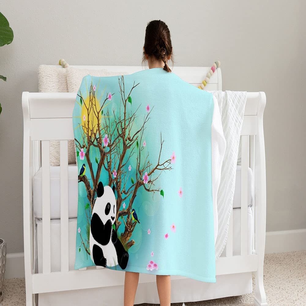GANTEE Painted Brand Cheap Sale Venue Birds Panda 2021 autumn and winter new Flowers Super Blanket an Soft Leaves