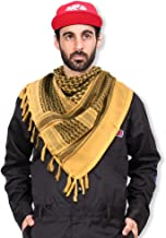 Ultrafun Military Shemagh Arab Scarf 100% Cotton Tactical Desert Keffiyeh Head Neck Scarf Wrap Shawl for Hunting Hiking-43x43 inches