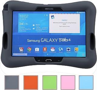 Newstyle Prueba de Golpes para Niños Super Ligero Cubierta de Protección Diseño de Amplificador con Entrada de Audio para Samsung Galaxy Tab 4 10.1 SM-T530 /T531 /T535 (Negro)