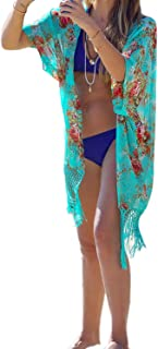 Womens Summer Bathing Suit Coverups Beach Bikini Swimwear Tunic Dress Kimono Cardigan Beach Swimsuit Cover Ups