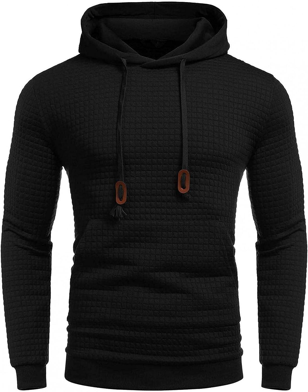 Hoodies for Men Men's Autumn Slim Casual Plaid Hooded Long Sleeve Sweatshirt Top Fashion Sweatshirt And Hoodies Blouses