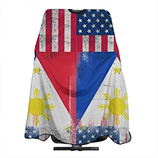 EYFlife Filipino America Flag Salon Barber Cape Cover for Hair Cutting Styling - 55
