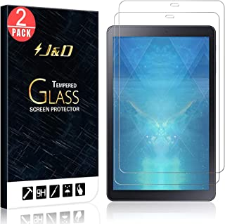 J&D Compatible for 2-Pack Galaxy Tab A Glass Screen Protector, [Tempered Glass] [Not Full Coverage] Ballistic Glass Screen Protector for Samsung Galaxy Tab A 10.5 inch Screen Protector