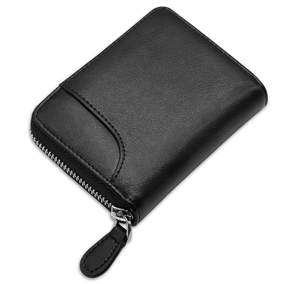 チューブコミュニティセールスマンNUBILY 小銭入れ メンズ コインケース 革 カード 財布 ブランド YKK ファスナー ブラック ネイビー