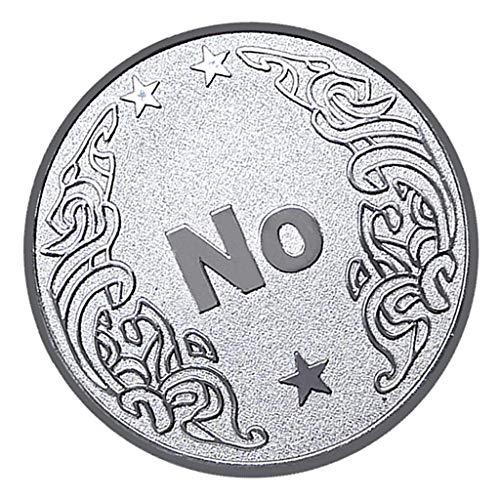 Baoblaze Ja Oder Nein Poker Coin Gedenkmünze Glück Metall Souvenir Kunst - Silber