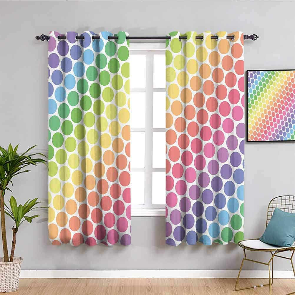 Polka Dots 低価格 Home Decor Thermal Insulated 低価格 Room Darkening Curtains