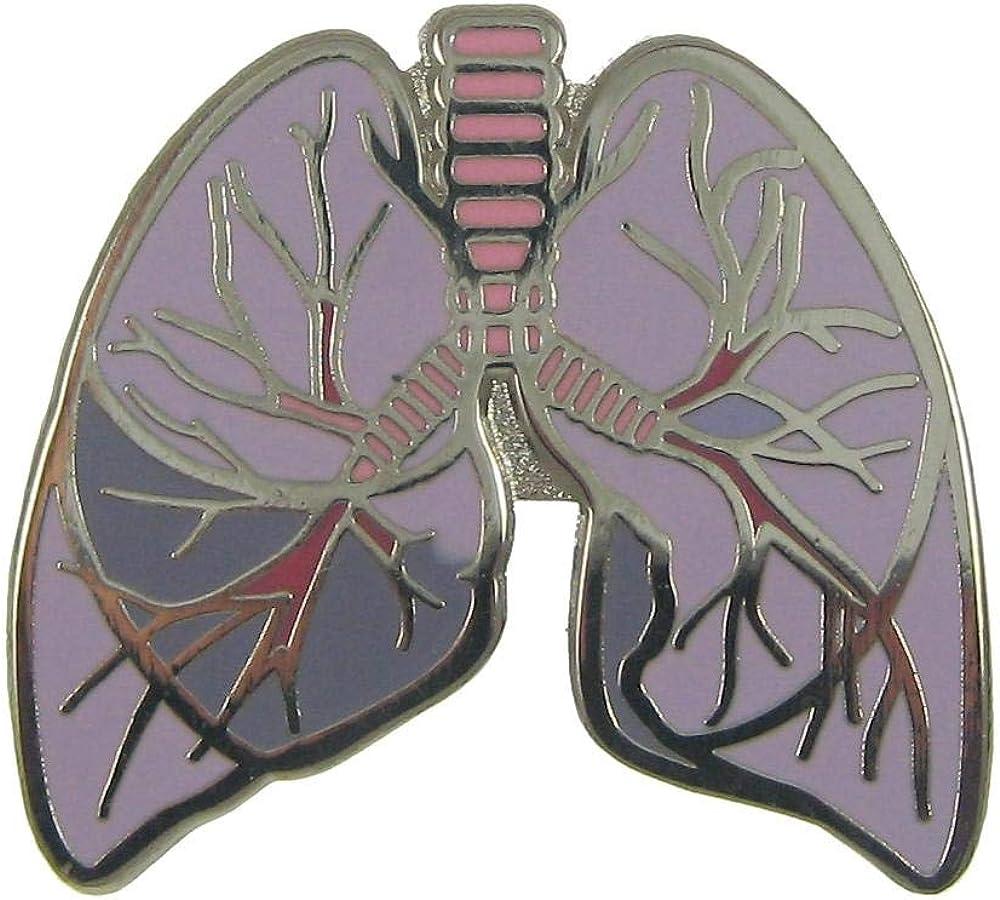 Jim Clift Design Fashion Kansas City Mall Lungs Enamel Lapel Pin