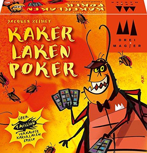 Schmidt Spiele 40829 Kakerlakenpoker, Drei Magier Kartenspiel