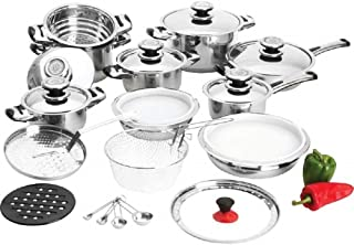 28pc 12-element High-quality Heavy-gauge Stainless Steel Cookware Set