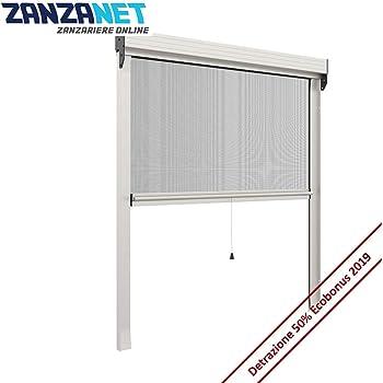 1 Marrone Sangiorgio Zanzariera avvolgibile Sottile Verticale ZV06110017017 Alluminio