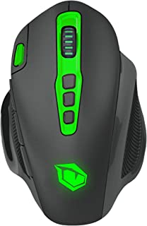 Monster Pusat V7 Wireless Gaming Mouse, Laser Sensor 7.000 DPI with Great Sensitivity, RGB Customizable LED, with Fibre- O...