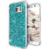 OKZone Funda Samsung Galaxy S7 Edge, Cárcasa Brilla Glitter Brillante TPU Silicona Parachoque Teléfono Smartphone Móvil Case [Protección a Pantalla y Cámara] para Samsung Galaxy S7 Edge (Verde)