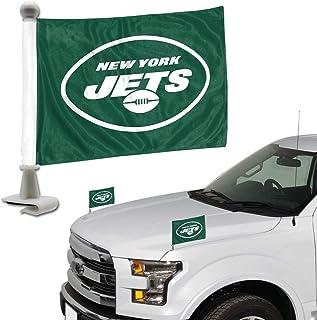 ProMark NFL New York Jets Flagge Set 2piece Ambassador stylenew York Jets Flagge Set 2piece Ambassador Stil, Team Farbe, Eine Größe