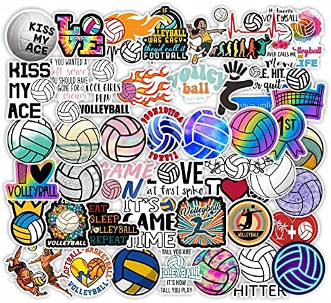 Volleyball wall stickers