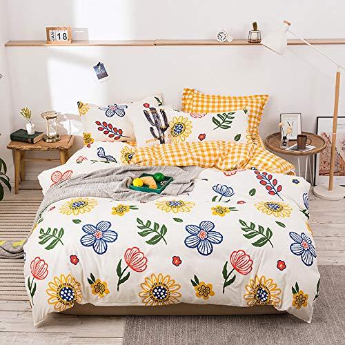 adorable flower pattern bedding set for girls