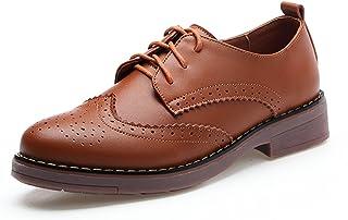 [Nomioce] オックスフォード レディース 革靴 本革 レザー 通学 通勤 レースアップ パンプス シューズ 靴 おじ靴 ヒール カジュアル 女性 用