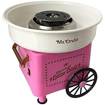 Mx Onda MX-AZ2765 - Máquina de algodón de azúcar, color rosa: Amazon.es: Hogar