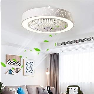 YUPIN Ventilador de Techo Lámpara de Techo con iluminación LED Control Remoto silencioso Ventiladores de Techo Invisibles para habitación de niños Dormitorio Sala de Estar [Clase energética A],Blanco