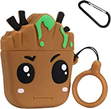 Twinkler Root Baby Compatible with Airpods 1/2 Case Silicone, Cute Cartoon 3D Animal Air pods Design Cover, Cool Fun Kawaii Fashion Funny Cases for Kids Girls Teens Boys Character Skin Keychain Airpod