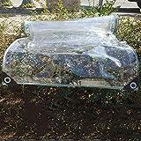 Tarps Transparente wasserdichte Tarps mit Metalltülle extra dicke transparente PVC-Hochleistungsplane für Pool- und Dachabdeckungen 440 g/m² (Größe: 316 × 415 m)
