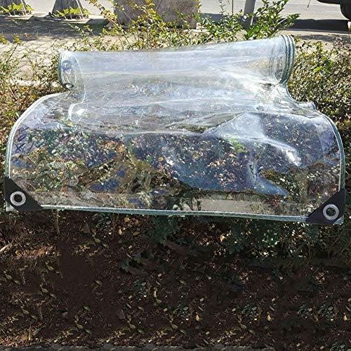 Tarps Transparente wasserdichte Tarps mit Metalltülle extra dicke durchsichtige PVC-Hochleistungsplane für Pool- und Dachabdeckungen 440 g/m² (Größe: 11 × 16 m)
