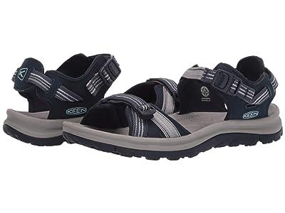 KEEN Terradora II Open Toe Sandal (Navy/Light Blue) Women