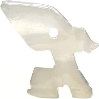 Frosty Clear Fennec Fox Pendant, 1.5