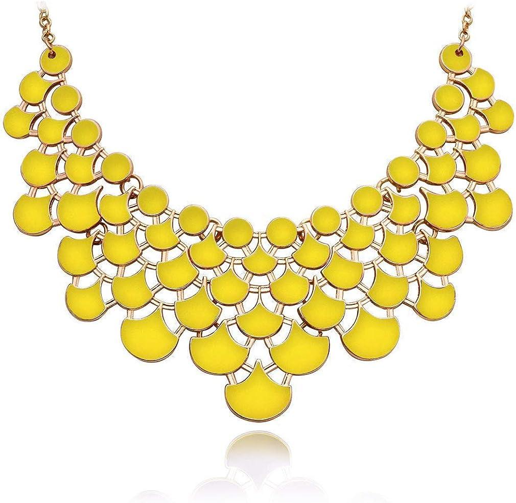 JANE Directly managed store STONE Fashion Detroit Mall Statement Collar Openwork Necklace Bi Vintage
