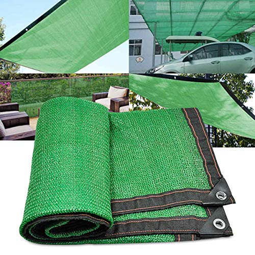 AYUSHOP Lona De Sombra 8 Pines Tasa De Sombreado 95% Toldos Reforzar Espesar Anti-Envejecimiento Protección UV para Plantas, Invernaderos, Cocheras, Patios, Verde,5x8m