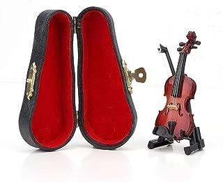 Accord/éon Meubles de Maison de Poup/ée Cadeau danniversaire pour Enfant B/âton de Violon Baoblaze Miniature Violon 3 Pi/èces