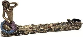YTC Antique Bronze Mermaid Statue Embellished Incense Fragrance Burner