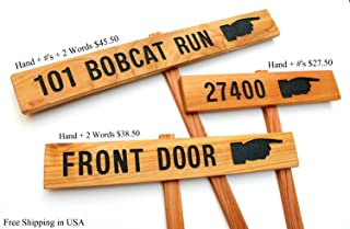 ADDRESS DIRECTIONAL Sign, Address Marker, House Decor, Directional Sign, Custom Marker, Personalized Sign, Pointing Signage, House Address, Your Name Here, Welcome Marker, Outdoor Sign