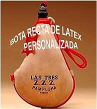 Las Tres Z.Z.Z. Bota de Vino clásica Recta látex- Personalizada - 1 litro