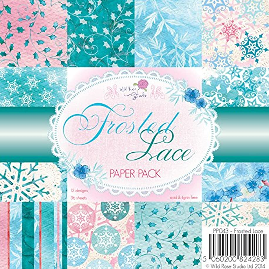 Wild Rose Studio Paper Pack, Frosted Lace, 6 by 6-Inch, 36-Pack
