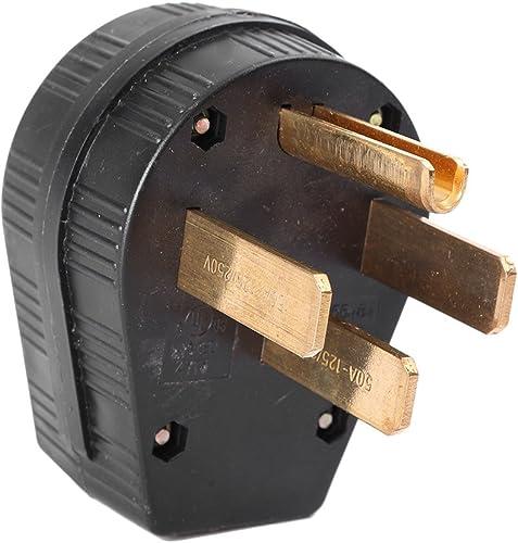 lowest Mallofusa Industrial Grade discount NEMA 14-50p online 50A 125V Straight Blade Four Holes Power Plug US online sale