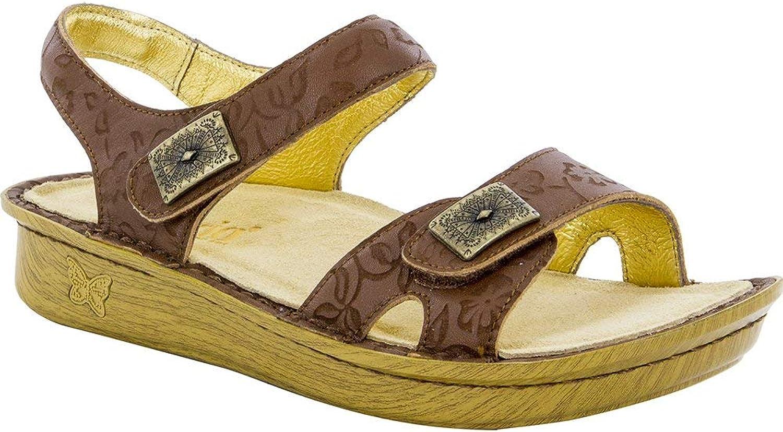 Alegria Women's, Vienna Low Heel Sandals TAN 3.9 M
