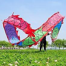 AJMINI Chinese Dragon Dance Linten, Zwarte Zijde Fitness Sport LintenStreamer Kerk Liturgische Lof Aanbidding, Gazons Prak...