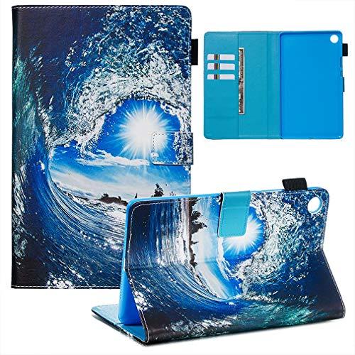 LMFULM® Hülle für Huawei MediaPad M5 (8,4 Zoll) PU Lederhülle Smart Hülle Cover Ständer Schutzhülle Flip Cover Welle