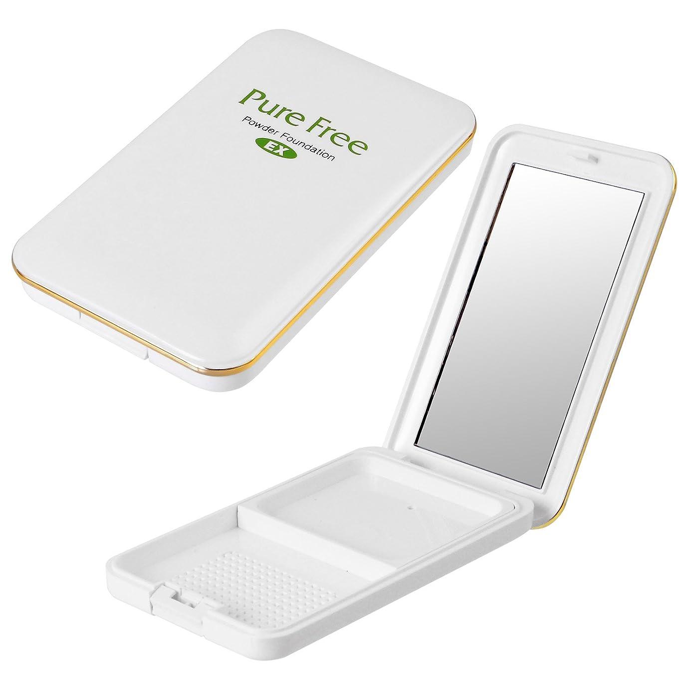 タイプ融合手つかずのPure Free (ピュアフリー) パウダーファンデーションEXコンパクト(専用パレット) オーガニック 正規品 ファンデーション専用パレット