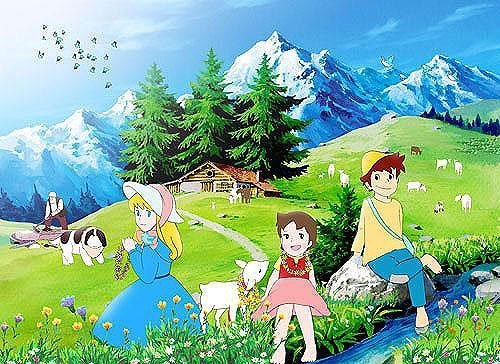 Girl of the Alps Heidi Listening to the Creek Jigsaw Puzzle 500pcs (38 x 53cm) JAPAN Import