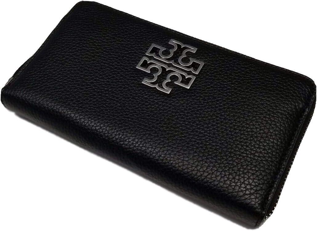 Tory Burch Beauty products Women's Britten unisex Zip Continental Silver Black Wallet