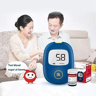 Fall Medidor de glucosa en Sangre, El azúcar en la Sangre Tester, Monitoreo medidor de glucosa con 50 Tiras reactivas y 50 Agujas, controlar Sus Niveles de glucosa y cuerpos cetónicos