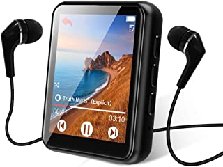 MP3 Player Bluetooth 5.0 Touch Screen Music Player 16GB Portable mp3 Player with Speakers high Fidelity Lossless Sound Qua...