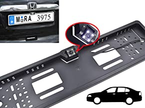 ZESI Universal Car License Number Plate Frame with Night Vision 170° Waterproof Rear View Camera