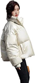 Ladies Puffer Down Jacket Insulated Stretch Reflex Outwear Outdoor Hiking Travel Outwear Windproof Warm Sportswear (Color : White, Size : S)