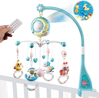 Crib Mobile Baby Musical Mobile with Lights and Music,Timing Function and Projection,Hanging Rotating Toys and 150 Melodies Music Box,Crib Toys for Newborn 0-24 Months Boy